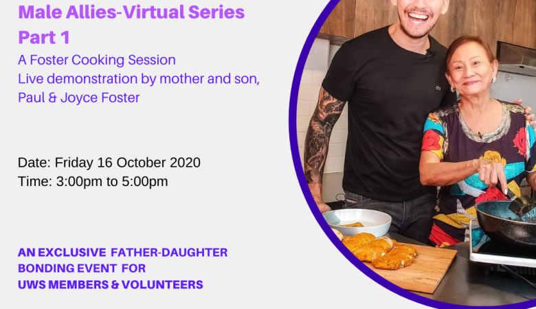 UWS Male Allies Virtual Series-A Foster Cooking Session